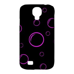 Purple Bubbles  Samsung Galaxy S4 Classic Hardshell Case (pc+silicone)