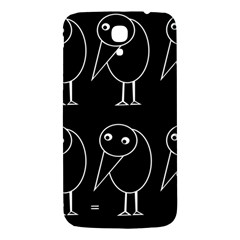 Black And White Birds Samsung Galaxy Mega I9200 Hardshell Back Case by Valentinaart