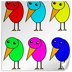Colorful Birds Canvas 16  X 16   by Valentinaart