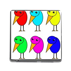 Colorful Birds Memory Card Reader (square) by Valentinaart