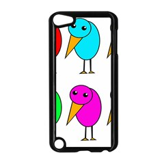 Colorful Birds Apple Ipod Touch 5 Case (black) by Valentinaart