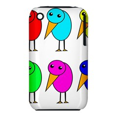 Colorful Birds Apple Iphone 3g/3gs Hardshell Case (pc+silicone)