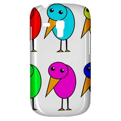 Colorful Birds Samsung Galaxy S3 Mini I8190 Hardshell Case by Valentinaart