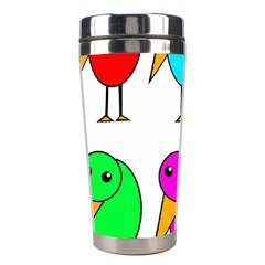 Colorful Birds Stainless Steel Travel Tumblers by Valentinaart