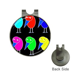Colorful Birds Hat Clips With Golf Markers by Valentinaart