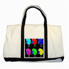 Colorful Birds Two Tone Tote Bag by Valentinaart