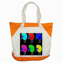Colorful Birds Accent Tote Bag by Valentinaart