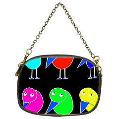 Colorful Birds Chain Purses (one Side)  by Valentinaart
