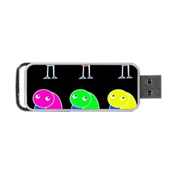 Colorful Birds Portable Usb Flash (one Side) by Valentinaart