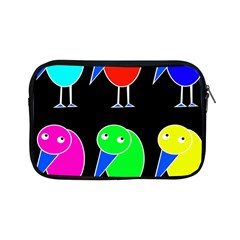 Colorful Birds Apple Ipad Mini Zipper Cases by Valentinaart