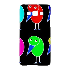 Colorful Birds Samsung Galaxy A5 Hardshell Case  by Valentinaart