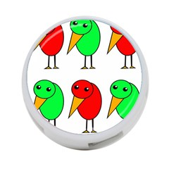 Green And Red Birds 4 Port Usb Hub (one Side) by Valentinaart