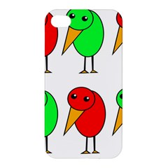 Green And Red Birds Apple Iphone 4/4s Hardshell Case by Valentinaart