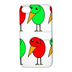 Green And Red Birds Apple Iphone 4/4s Hardshell Case With Stand by Valentinaart