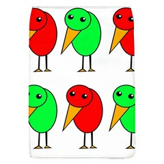 Green And Red Birds Flap Covers (l)  by Valentinaart