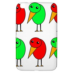 Green And Red Birds Samsung Galaxy Tab 3 (8 ) T3100 Hardshell Case  by Valentinaart