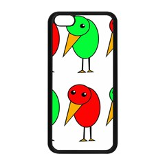 Green And Red Birds Apple Iphone 5c Seamless Case (black) by Valentinaart