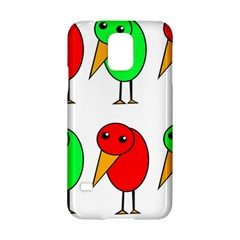 Green And Red Birds Samsung Galaxy S5 Hardshell Case  by Valentinaart