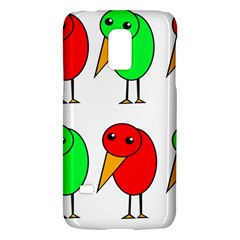 Green And Red Birds Galaxy S5 Mini by Valentinaart
