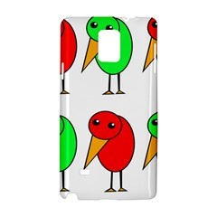 Green And Red Birds Samsung Galaxy Note 4 Hardshell Case by Valentinaart