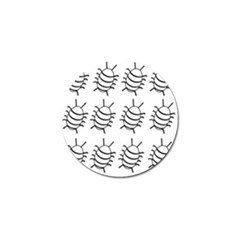 White Bug Pattern Golf Ball Marker