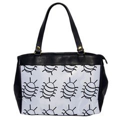 White Bug Pattern Office Handbags by Valentinaart