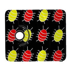 Red And Yellow Bugs Pattern Samsung Galaxy S  Iii Flip 360 Case by Valentinaart