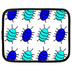Blue Bugs Netbook Case (large) by Valentinaart
