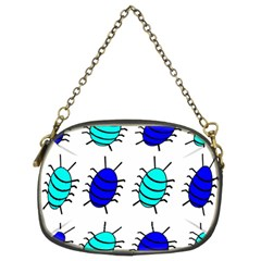 Blue Bugs Chain Purses (two Sides)  by Valentinaart
