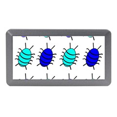 Blue Bugs Memory Card Reader (mini) by Valentinaart