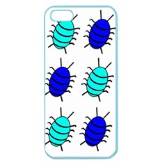 Blue Bugs Apple Seamless Iphone 5 Case (color) by Valentinaart