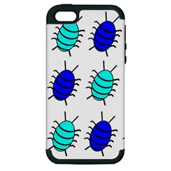 Blue Bugs Apple Iphone 5 Hardshell Case (pc+silicone) by Valentinaart