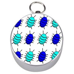 Blue Bugs Silver Compasses by Valentinaart