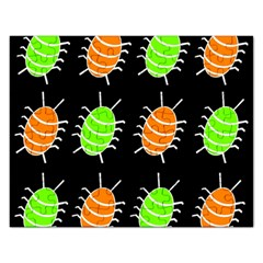 Green And Orange Bug Pattern Rectangular Jigsaw Puzzl by Valentinaart