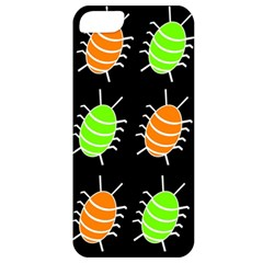 Green And Orange Bug Pattern Apple Iphone 5 Classic Hardshell Case by Valentinaart