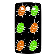 Green And Orange Bug Pattern Samsung Galaxy Mega 5 8 I9152 Hardshell Case  by Valentinaart