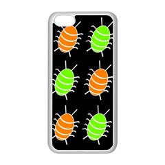 Green And Orange Bug Pattern Apple Iphone 5c Seamless Case (white) by Valentinaart