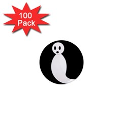 Ghost 1  Mini Magnets (100 Pack)  by Valentinaart