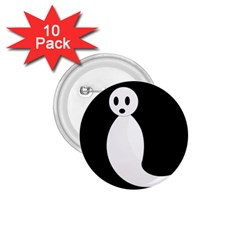 Ghost 1 75  Buttons (10 Pack) by Valentinaart