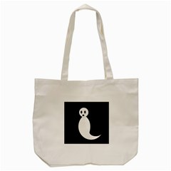 Ghost Tote Bag (cream) by Valentinaart