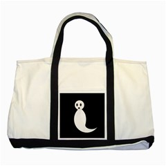 Ghost Two Tone Tote Bag by Valentinaart