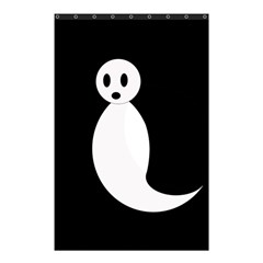 Ghost Shower Curtain 48  X 72  (small)  by Valentinaart