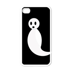 Ghost Apple Iphone 4 Case (white) by Valentinaart