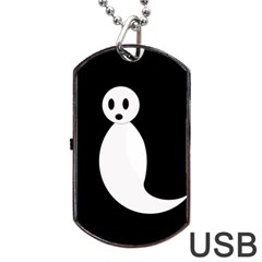 Ghost Dog Tag Usb Flash (two Sides)  by Valentinaart