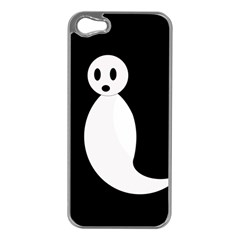 Ghost Apple Iphone 5 Case (silver) by Valentinaart