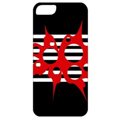 Red, Black And White Abstract Design Apple Iphone 5 Classic Hardshell Case by Valentinaart