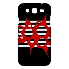Red, Black And White Abstract Design Samsung Galaxy Mega 5 8 I9152 Hardshell Case  by Valentinaart