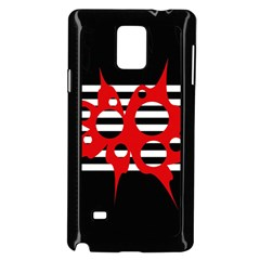 Red, Black And White Abstract Design Samsung Galaxy Note 4 Case (black) by Valentinaart