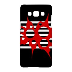 Red, Black And White Abstract Design Samsung Galaxy A5 Hardshell Case  by Valentinaart