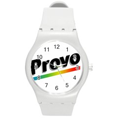 Flag Of Provo  Round Plastic Sport Watch (m)